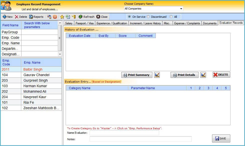 HR System Software in UAE